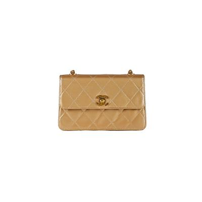 square shoulder mini bag gold